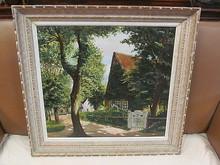 Arthur SIEBELIST - Painting - Bauernhaus mit weißer Gartenpforte