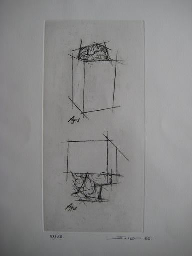 Sacha SOSNO - Estampe-Multiple - GRAVURE 1986 SIGNÉE AU CRAYON NUM/60 HANDSIGNED NUMB ETCHING