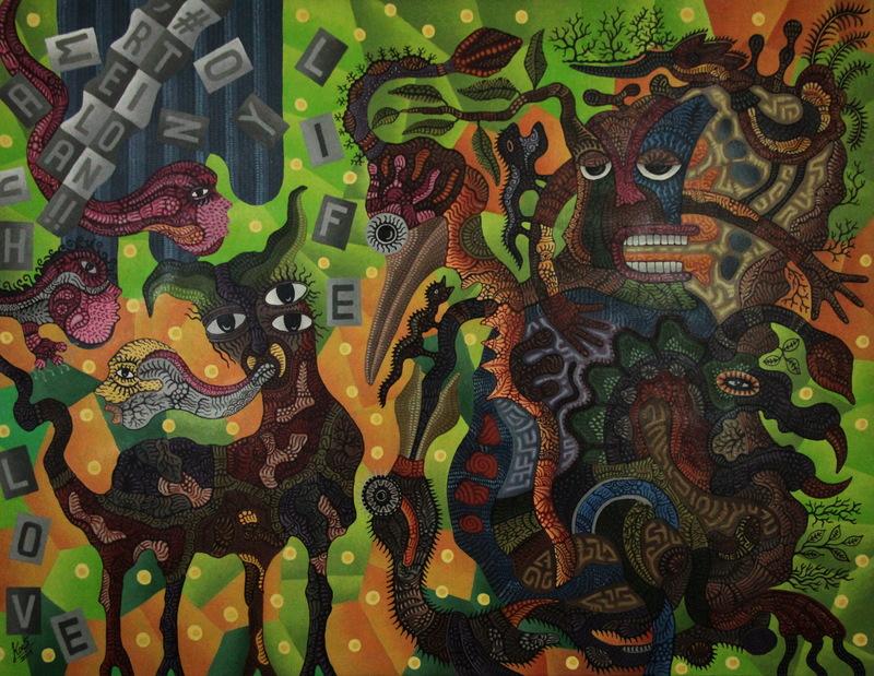 KUSBUDIYANTO - Painting - Real Relation