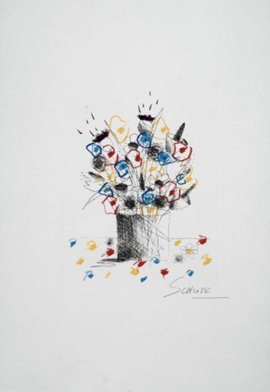 Wilhelm SCJHLOTE - Estampe-Multiple - Blumenstrauss