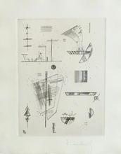 瓦西里•康定斯基 - 版画 - Composition