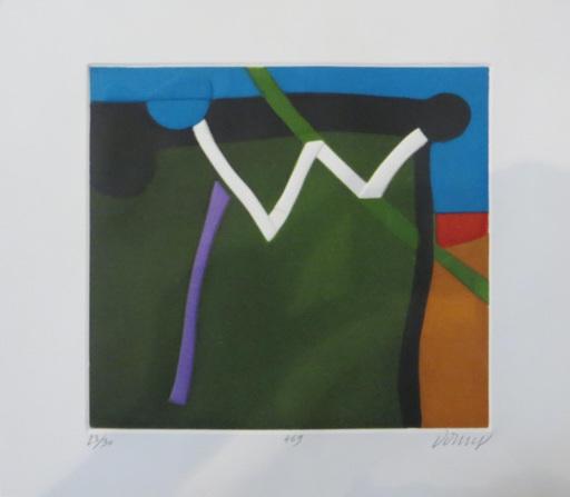 Bertrand DORNY - Estampe-Multiple - Zigzag blanc