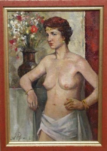 "Arkadi RUSIN - Gemälde - ""Female Seminude"" by Arkadi Rusin"