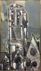 Claude VENARD - Peinture - Eglise Brettone
