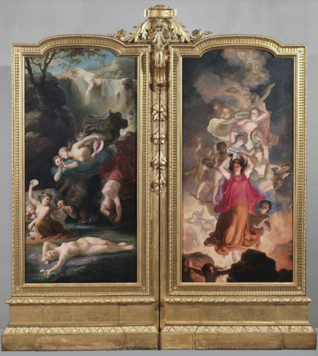 """Eugenio AGNENI - Gemälde - Dittico """"Le grida del fuoco""""; """"Le voci del torrente"""" (1865 1"""