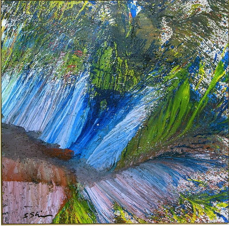 Shozo SHIMAMOTO - Pittura - Untitled