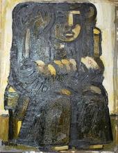 Xante BATTAGLIA - Painting - Maternità seduta
