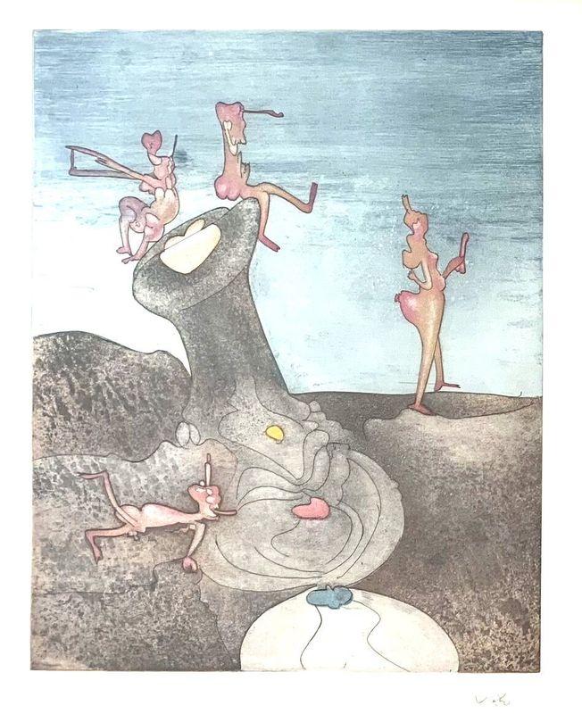 """Roberto MATTA - Stampa Multiplo - Untitled (from """"Così fan tutte"""" portfolio) #4"""