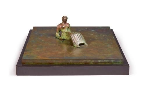 Henry MOORE - Sculpture-Volume - Reclining figure: Bone skirt