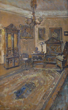 Hugo SCHEIBER - Pintura - Interior ( The Artist's Home?)