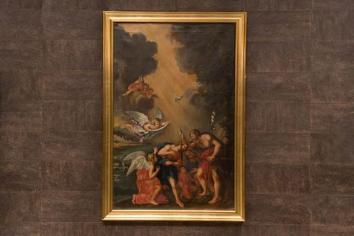 Francesco ALBANI - Pintura - Battesimo di Gesù seguace di Francesco Albani