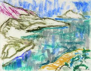 Willy EISENSCHITZ - Dibujo Acuarela - Küste vor Marseille