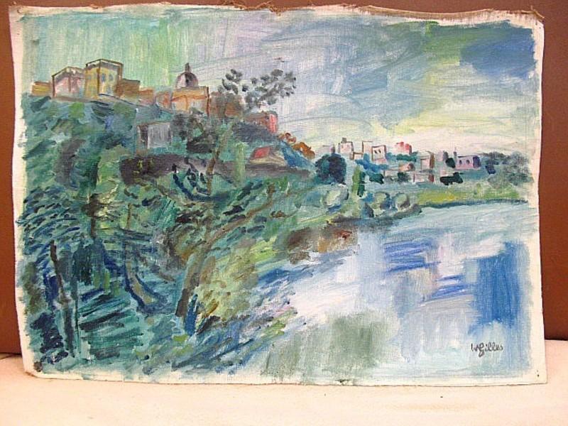 Werner GILLES - Pintura - Forio, Ischia mit Chiesa di San Gaetano