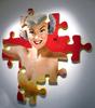KEYMI - Painting - Nikki - Série pin up puzzle