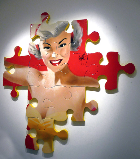 KEYMI - Painting - Nikki - Série pin up puzzle