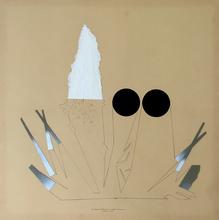 Bruno MUNARI - Peinture - Ricostruzione teorica di un oggetto immaginario
