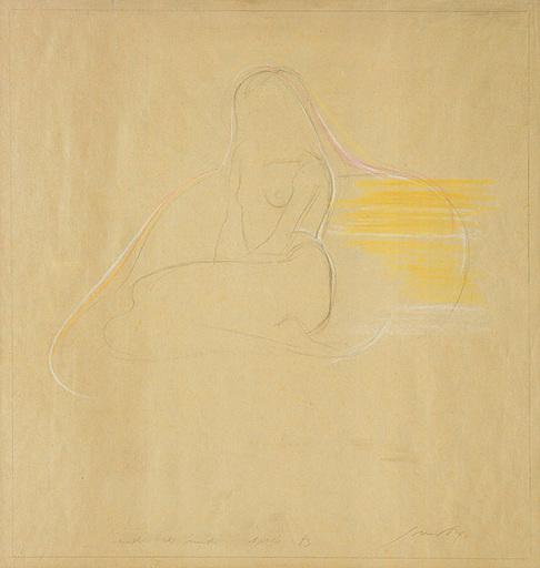 Piero GUCCIONE - Disegno Acquarello - Studio di nudo