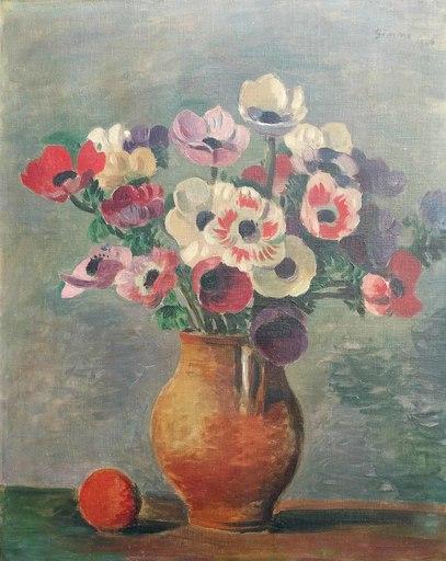Wilhelm GIMMI - Painting - Bouquet de fleurs