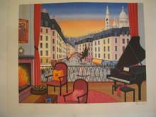 François LEDAN - Grabado - Paris:Montmartre,1986.