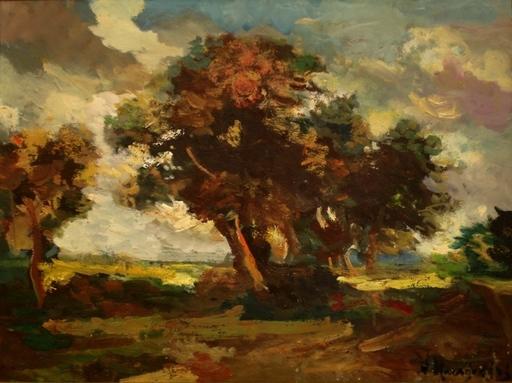 Nikolajs KARAGODINS - Pittura - Landscape with trees