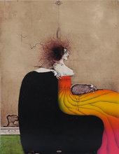 Paul WUNDERLICH - Grabado - Dame mit Schobhund
