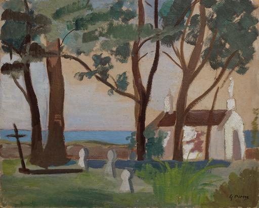 Gustave René PIERRE - 绘画 - La petite chapelle