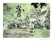 Peter DOIG - Print-Multiple - Black Palm