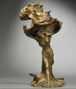 Raoul François LARCHE - Skulptur Volumen - Loïe Fuller