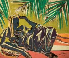 Floris JESPERS - Peinture - Under the palm trees (ca.1951)