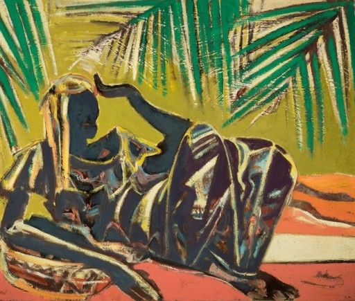 Floris JESPERS - Painting - Under the palm trees (ca.1951)
