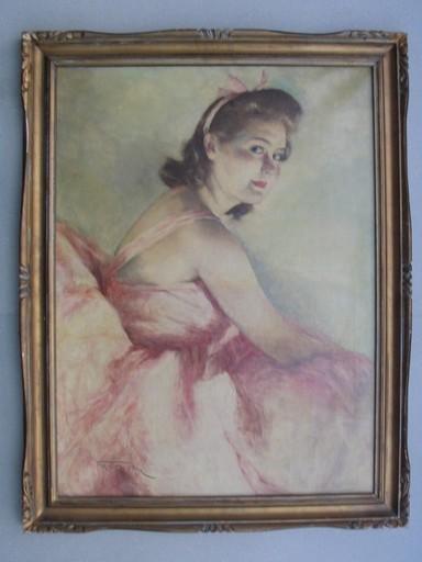 Pal FRIED - Painting - Ballerina