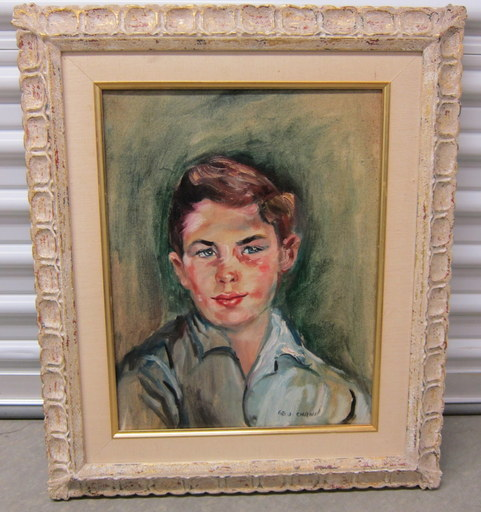 CHANN George - Painting - Portrait of a young boy