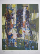 Constantin ANDREOU - Radierung Multiple - LITHOGRAPHIE SIGNÉE CRAYON NUM199 HANDSIGNED NUMB LITHOGRAPH