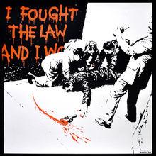班克斯 - 版画 - I Fought the Law