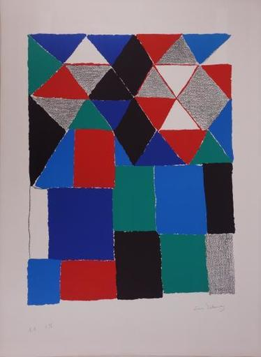 Sonia DELAUNAY-TERK - Print-Multiple - Abstract composition