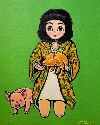 Seung-Hun SHIN - Gemälde - Fantasy Jejuisland- Chun-ya's Journey of Haines