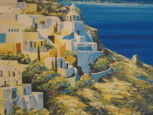KERFILY - Estampe-Multiple - Gréce,Santorin,2002.