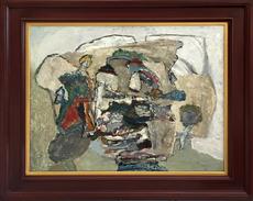 Jacques DOUCET - Painting - La Roche Eclate