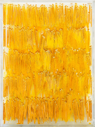 Fernandez ARMAN - Sculpture-Volume - Accumulation Yellow Pencils