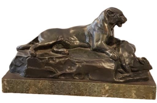 Antoine Louis BARYE - 雕塑 - La Lionne et sa proie