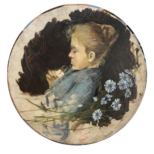 Francesco FANELLI - Peinture - Fanciulla con fiori