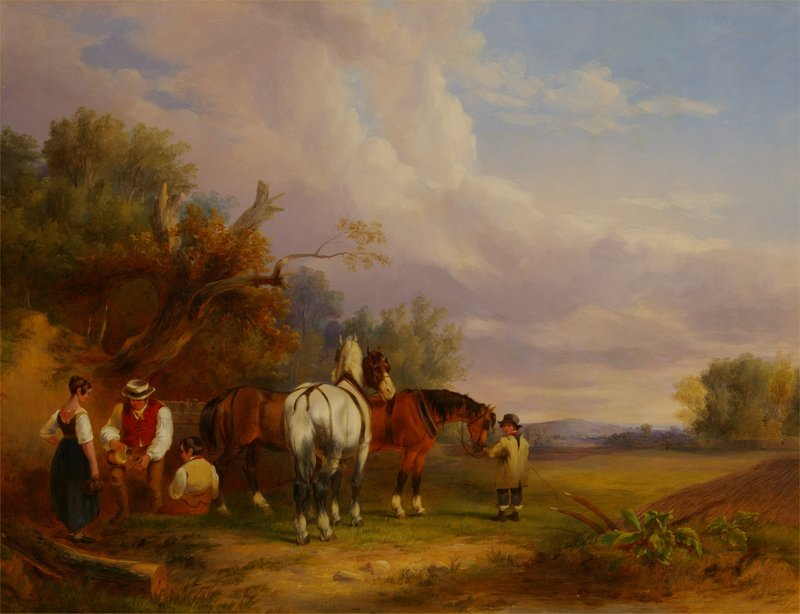 William SHAYER - Painting - In the Country