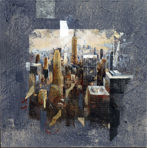 Josep MARTI BOFARULL - Painting - Classic Manhattan View