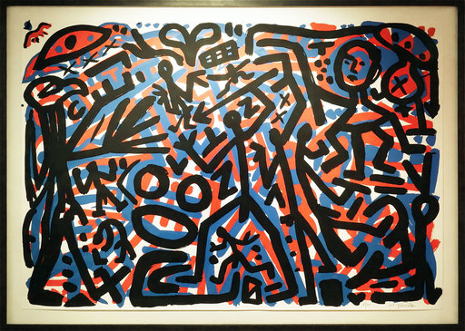 A.R. PENCK - Estampe-Multiple - 9. November