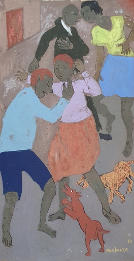 Grégoire MICHONZE - Disegno Acquarello - Village Figuers