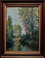 Alexandre JACOB (1876-1972) - Bords de rivière aux peupliers