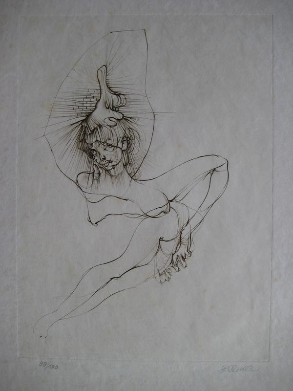 Hans BELLMER - Grabado - GRAVURE 1972 SIGNÉE CRAYON NUM/100 HANDSIGNED NUMB ETCHING