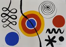 Alexander CALDER - Estampe-Multiple - Sun and Spirals