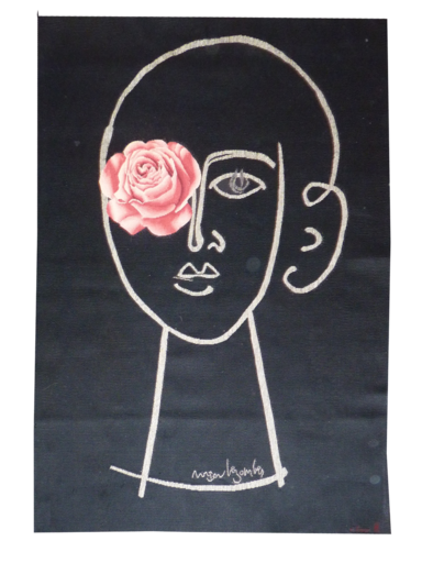 Roger BEZOMBES - Teppiche - La femme fleur