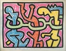 Keith HARING (1958-1990) - Flowers